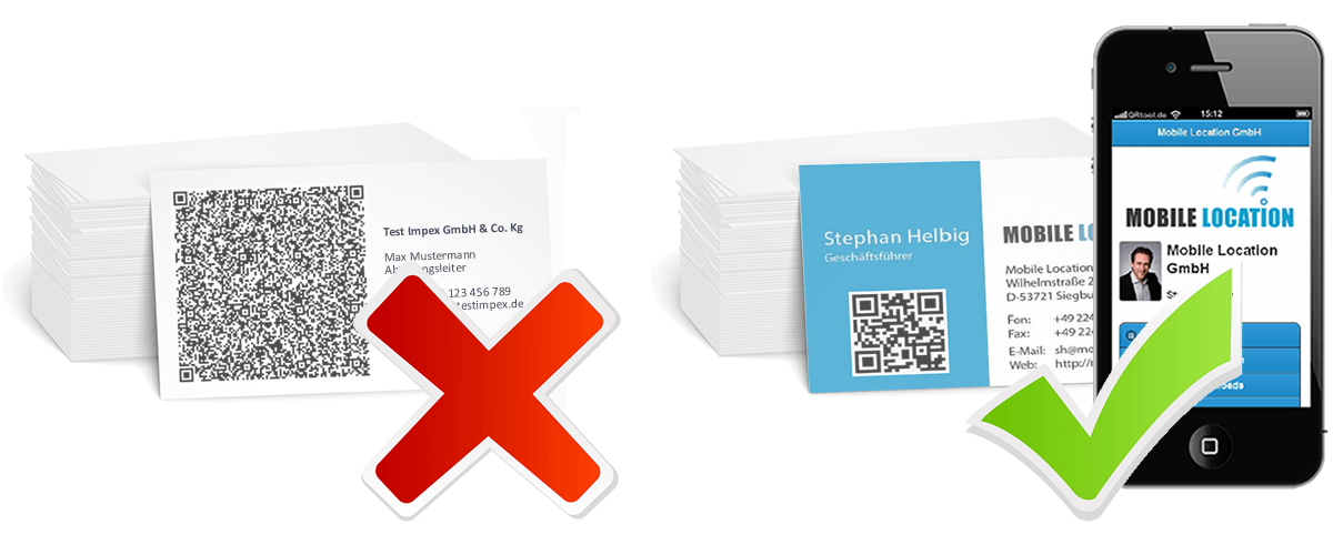 Qrtool Smart Business Card Mobile Visitenkarte Mit Qr Code